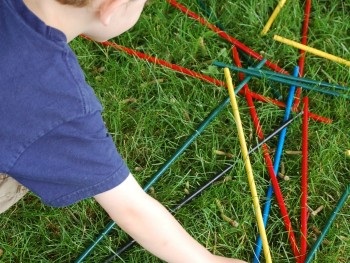GROUP GAMES FOR KIDS: GIANT PICKUP STICKS!