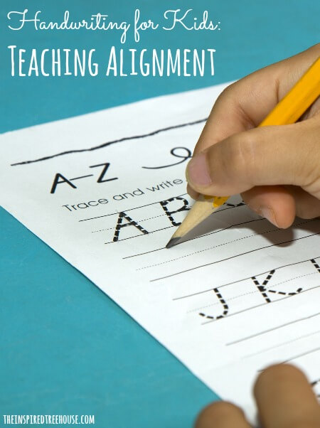 handwriting for kids alignment