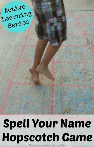 a spelling hopscotch title