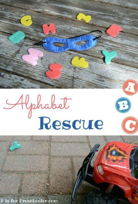 Alphabet rescue title