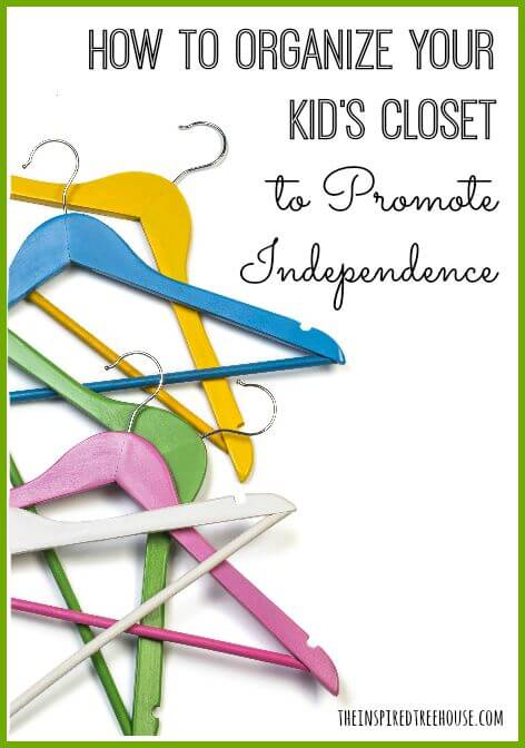 how to organize your kids closet title