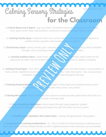 10 Calming Sensory Strategies for School - The Inspired