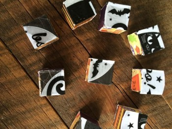 VISUAL MOTOR ACTIVITIES: DIY HALLOWEEN BLOCK PUZZLE