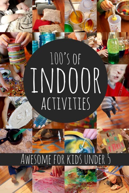 Movement monday indoor activities for kids the inspired for Indoor crafts for kids