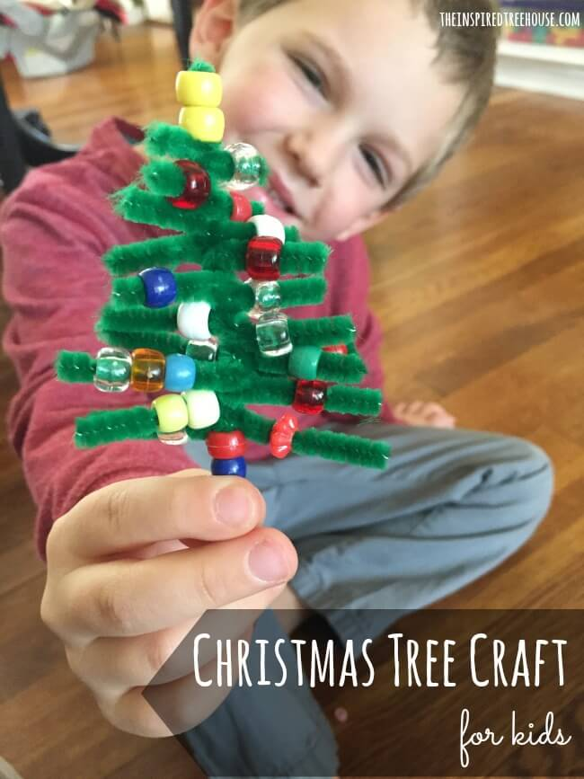 PIPE CLEANER CHRISTMAS CRAFT FOR KIDS - The Inspired Treehouse