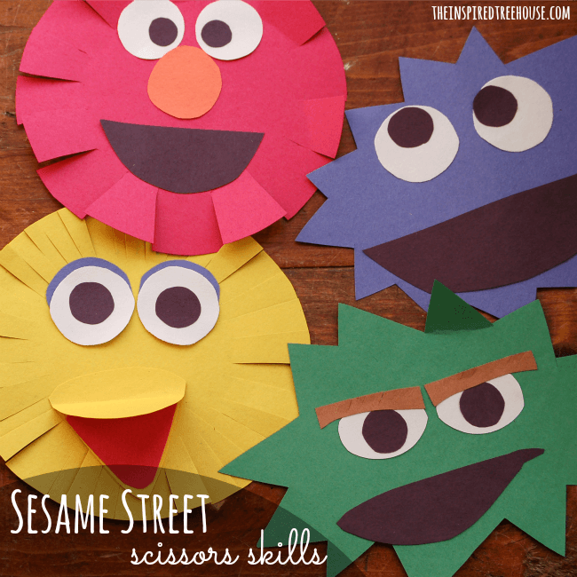 Simple Sesame Street Craft For Kids The Inspired Treehouse