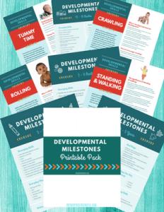 The Inspired Treehouse - Developmental Milestones Handout Pack