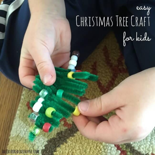 pipe cleaner cgristmas tree craft - Pipe Cleaner Christmas Tree
