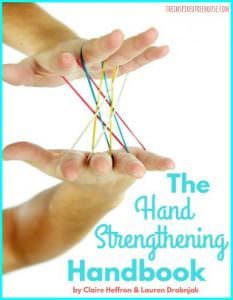 The Inspired Treehouse - The Hand Strengthening Handbook puts over 150 fun and engaging hand strength activities for kids right at your fingertips!