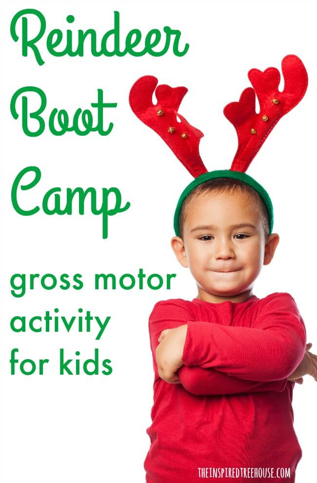 The Inspired Treehouse - These holiday gross motor activities for kids are perfect for a classroom holiday party or just to keep kids moving inside on a cold, snowy day!