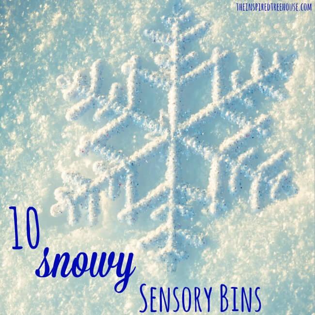 10 snowy sensor bins square