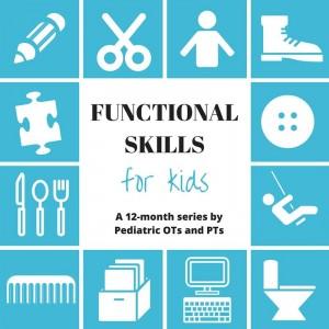functional skills for kids blog hop image