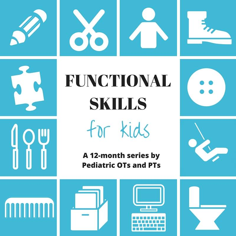 functional skills for kids blog hop image