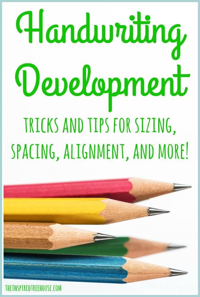 Handwriting Development Sizing Spacing Alignment And More The