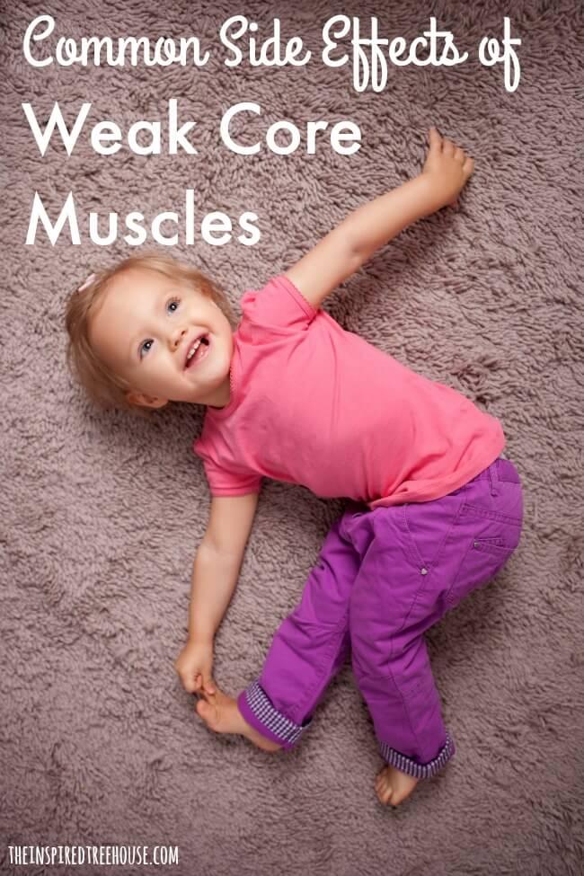 weak core muscles in kids pin