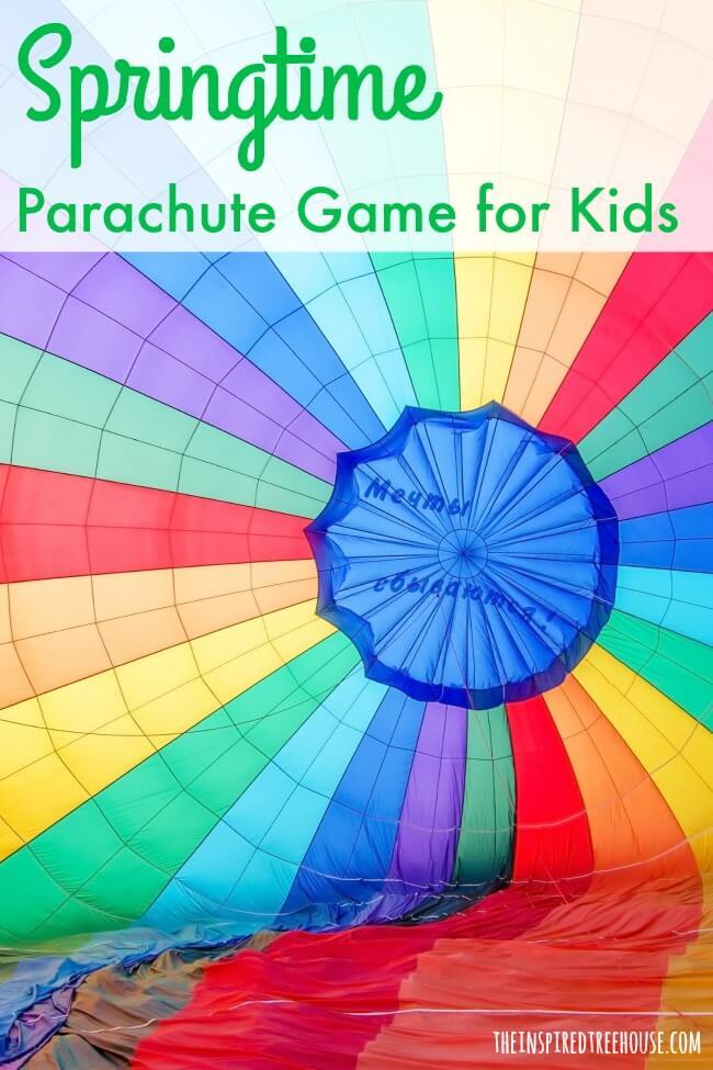 spring activities parachute pin