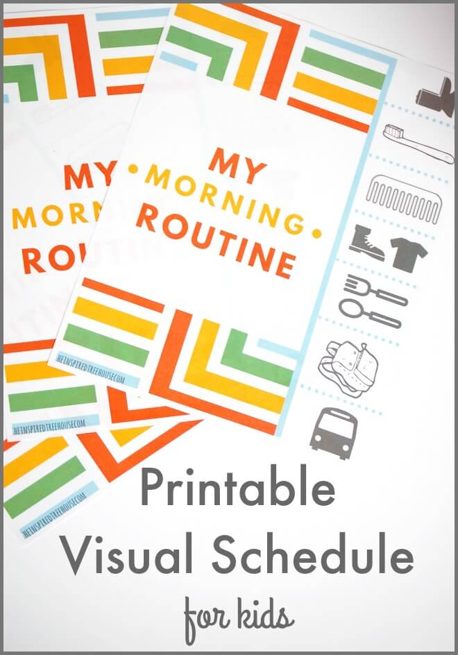 picture relating to Morning Routine Printable identify PRINTABLE Timetable FOR THE Early morning Agenda - The Encouraged