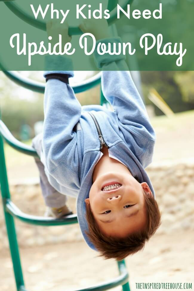 vestibular activities upside down play pin