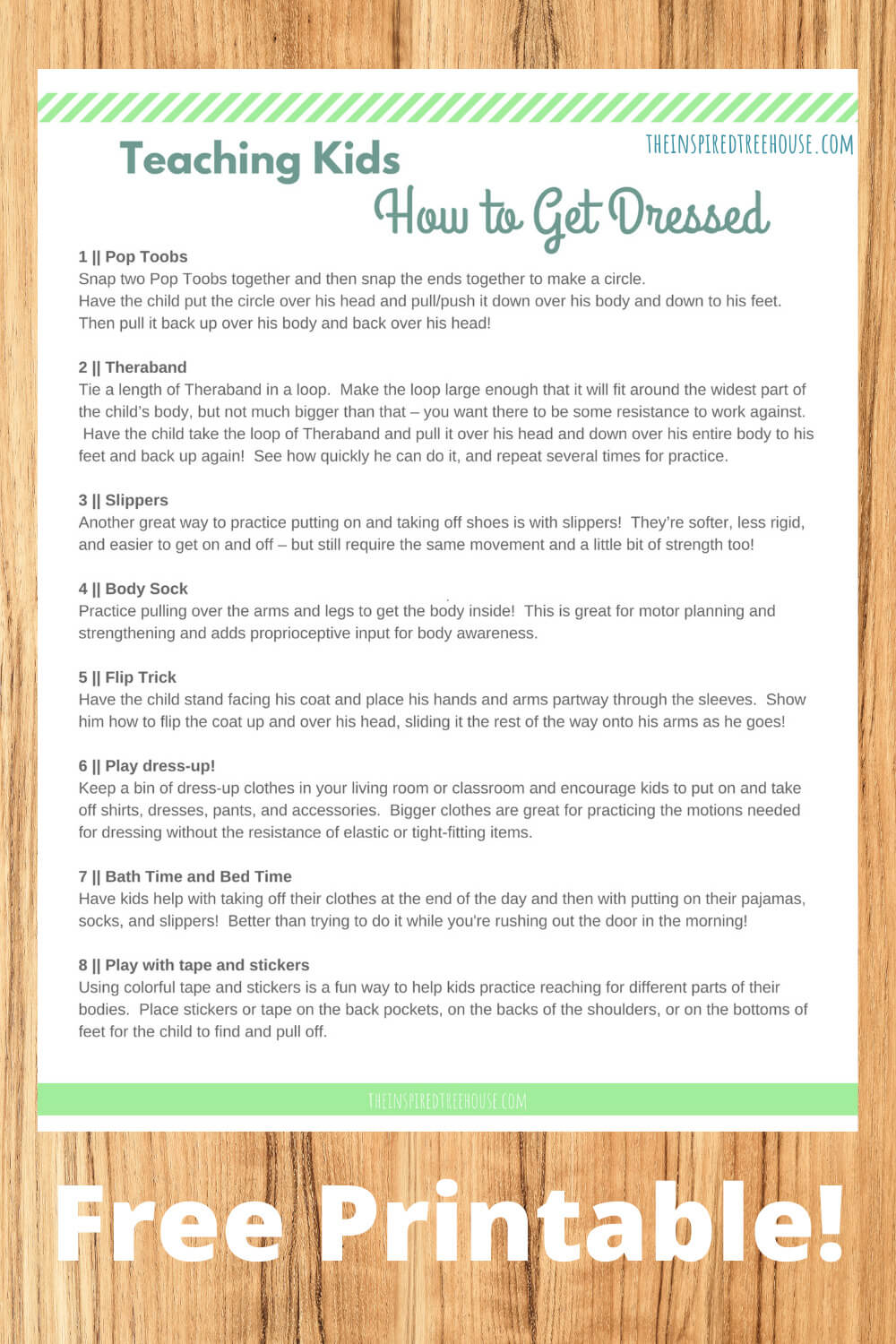 The Inspired Treehouse - Teaching kids how to dress themselves can be a challenge! Try these fun ideas to help kids gain independence and confidence.