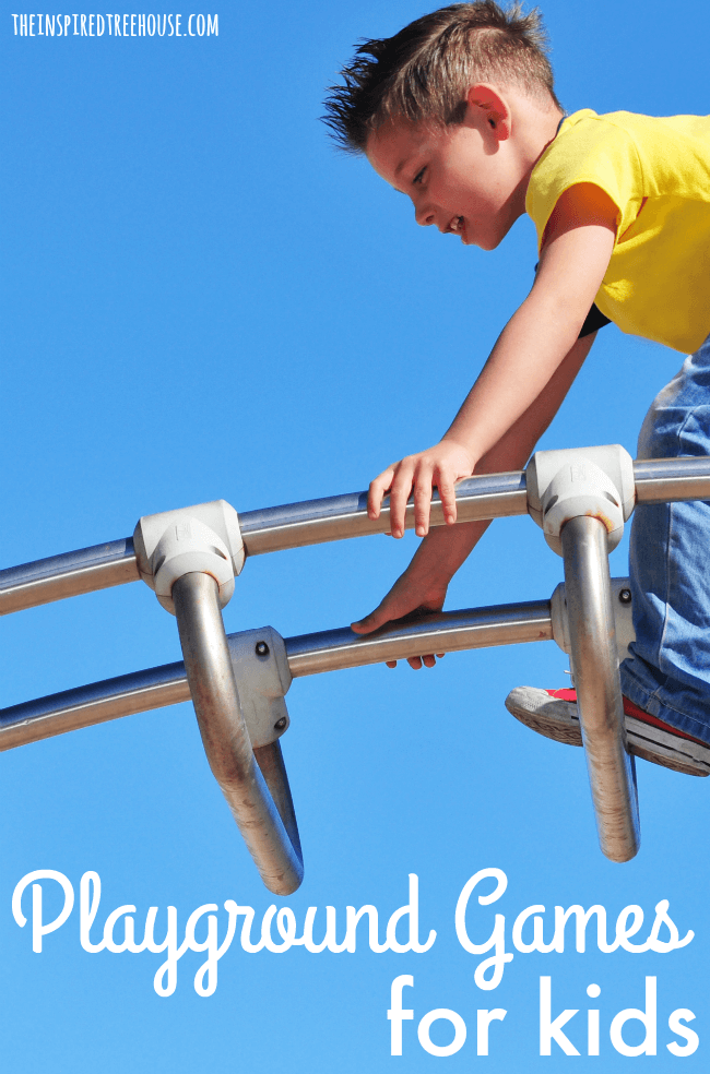 The Inspired Treehouse - Playground Games and Activities for Kids - These creative games and activities are perfect for promoting all kinds of developmental skills on your next trip to the playground! Perfect for using during therapy sessions too!