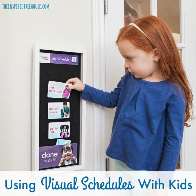 The Inspired Treehouse - 10 Reasons to Use a Visual Schedule With Kids. Visual schedules can help with transitions, direction following, and so much more!