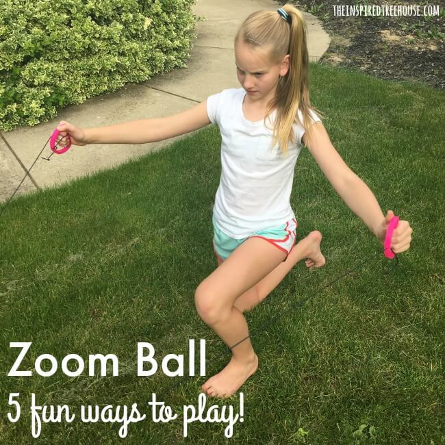 The Inspired Treehouse - Zoom Ball: 5 Fun Ways to Play! This awesome toy is a therapist's dream! Work on core strength, bilateral coordination, and more!