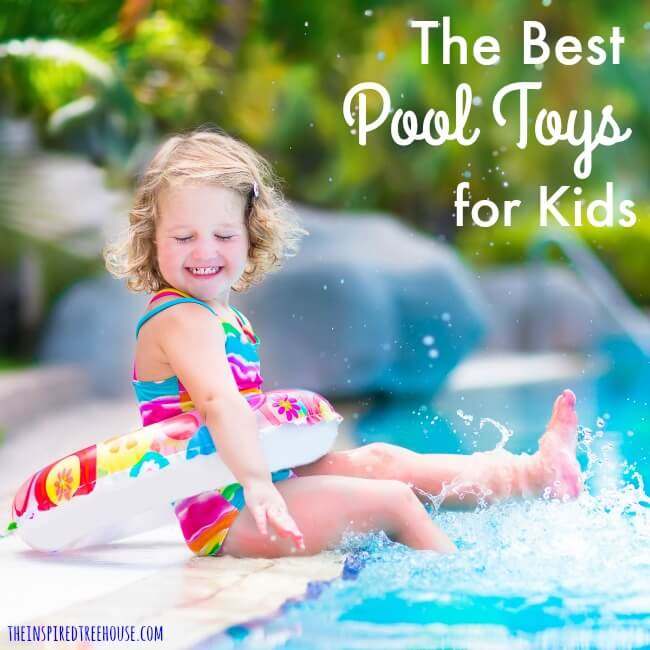 The Inspired Treehouse - Pool toys for kids are a great way to spice up water play while also working on all kinds of developmental skills!