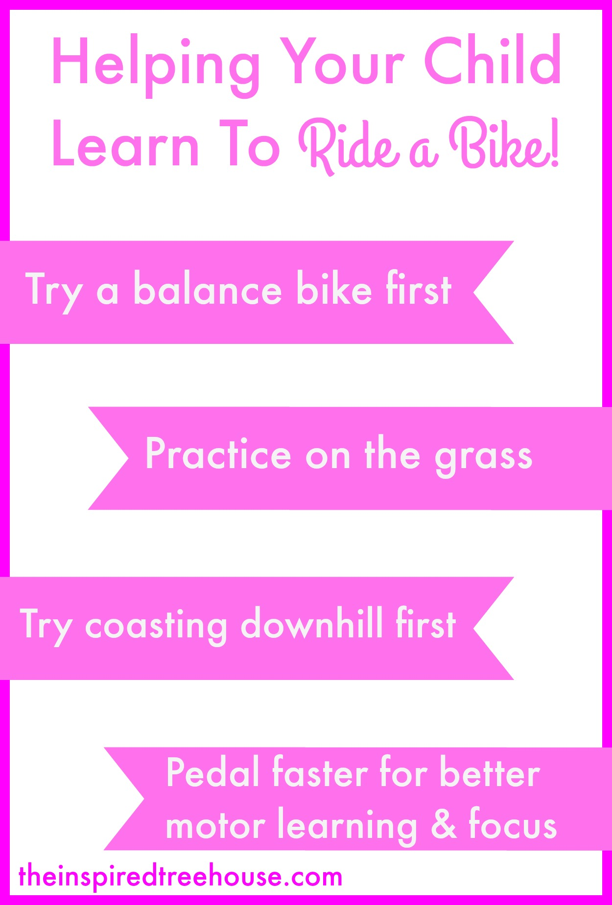 Ride a bike graphic