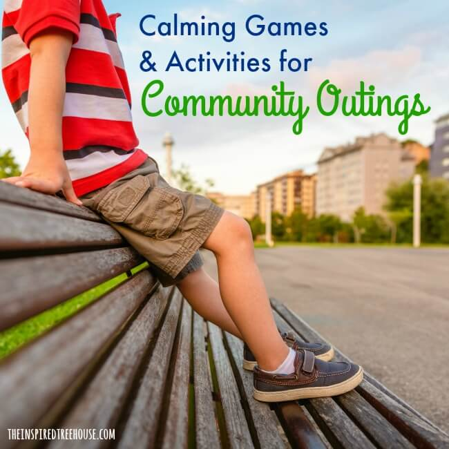 The Inspired Treehouse - Whether you're in the car, at the grocery store, or in a waiting room, these calming games and activities can make sure kids stay cool during community outings.