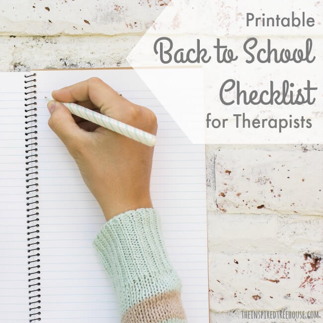 The Inspired Treehouse - Print off this back to school list to help you check off all of the important tasks you need to accomplish to start the school year off right!