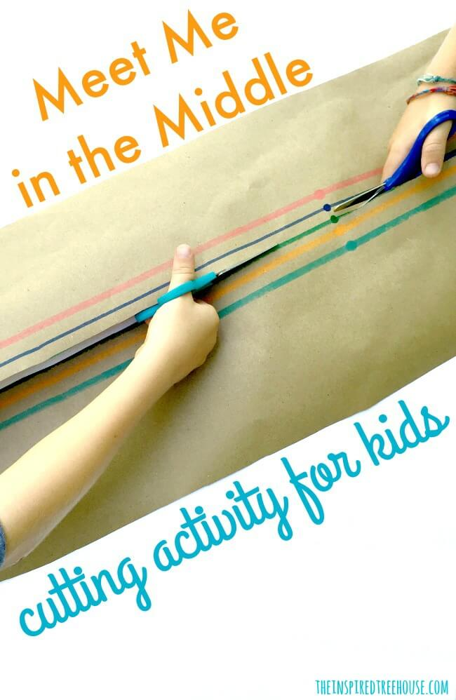 The Inspired Treehouse - This fun cutting activity lets kids work on scissors skills with a friend!
