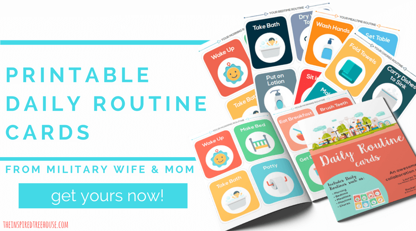 Printable Routine Cards from Military Mom and Wife