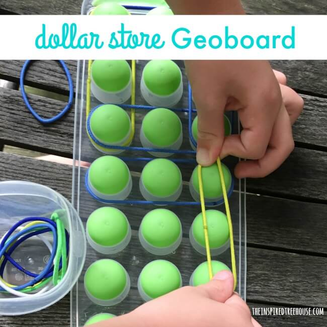 The Inspired Treehouse - This super cheap geoboard fine motor activity is the perfect thing to throw in your therapy bag as a warmup to get little fingers moving!