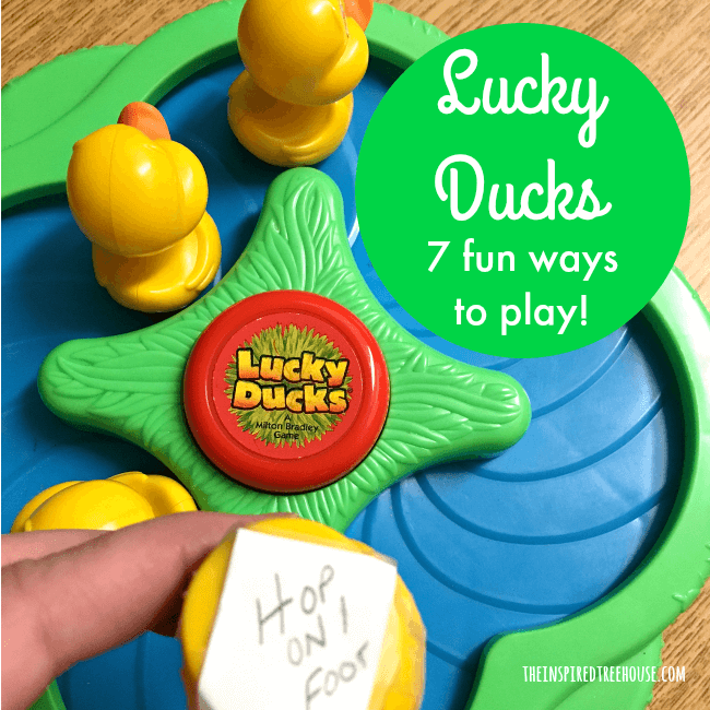 The Inspired Treehouse - The Lucky Ducks game is a great way to keep kids' interest while encouraging lots of different developmental skills!