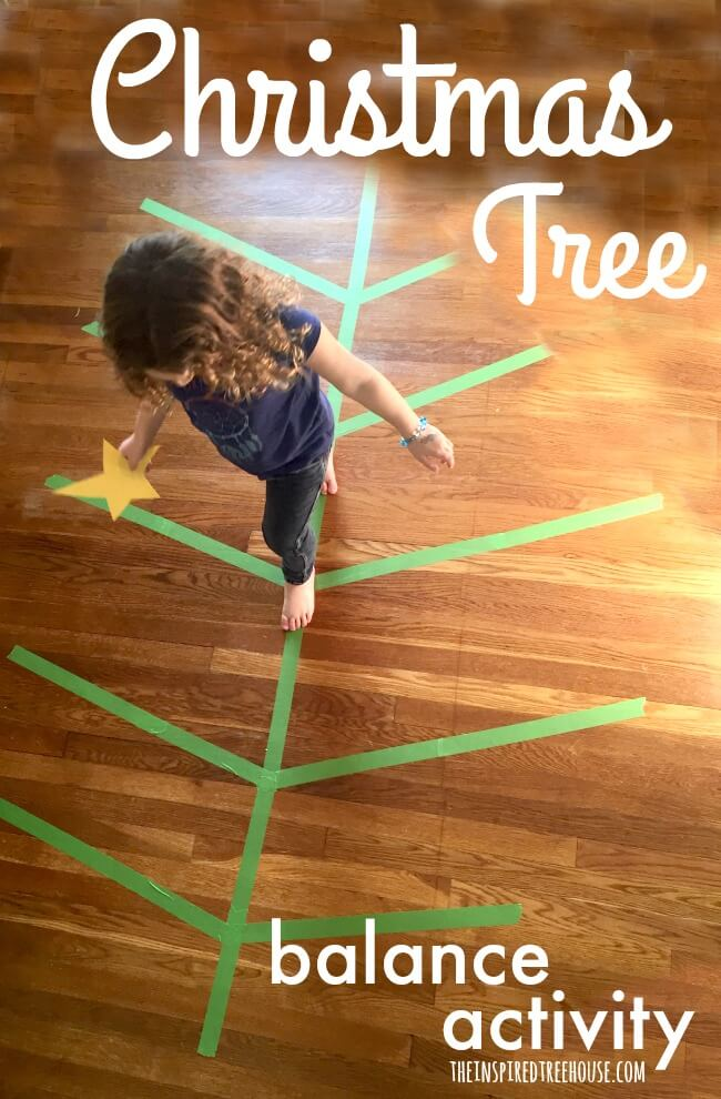 christmas activities christmas tree balance activity