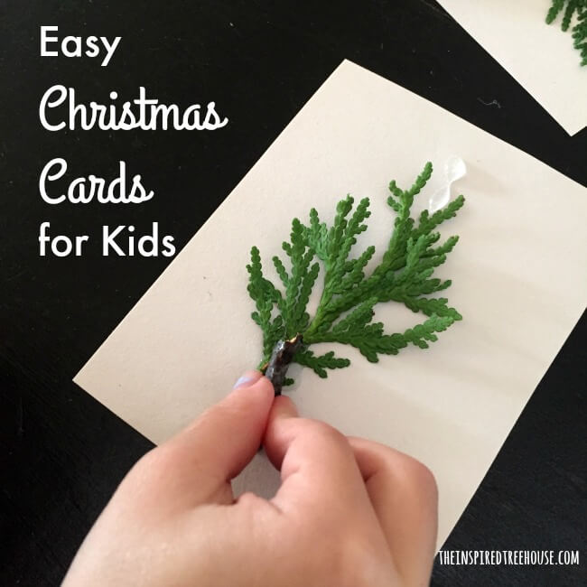 Easy Christmas Cards For Kids.Diy Christmas Cards For Kids The Inspired Treehouse