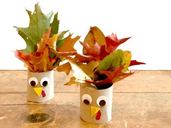 Thanksgiving Crafts for Kids: Leaf Turkeys!