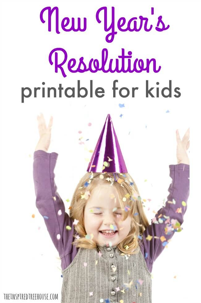 the inspired treehouse this cute printable is the perfect way to talk about new year