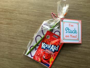 "DIY Valentines: ""Stuck on You"" Smelly Stickers!"