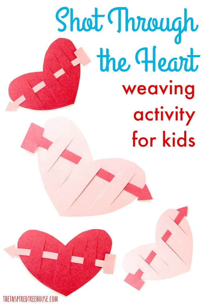 Valentine Crafts For Kids Shot Through The Heart  The Inspired