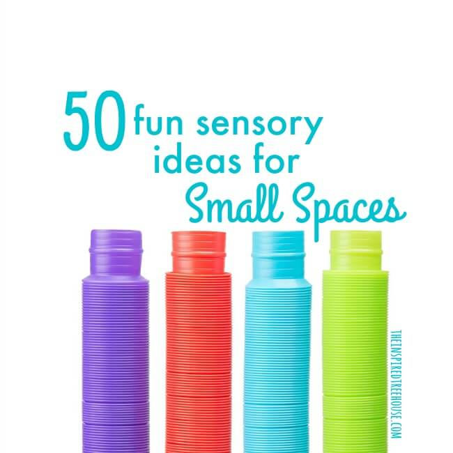 The Inspired Treehouse - Some of our best sensory ideas for small spaces! From movement activities, to tactile activities, to visual activities, and more!