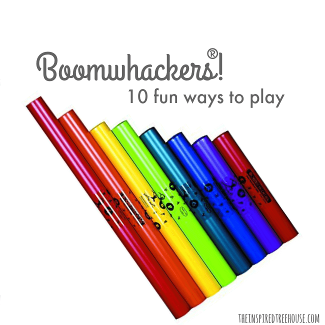 The Inspired Treehouse -If you've never played with Boomwhackers before, today is the day! One of our favorite toys for promoting developmental skills!