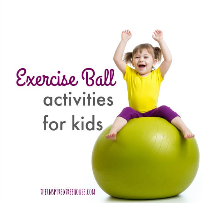 photo regarding Printable Exercise Ball Workouts called Bodily Actions for Little ones Getting an Physical fitness Ball - The