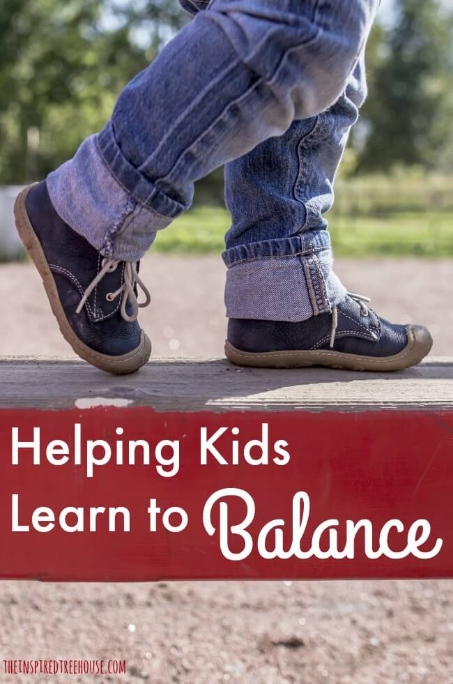 The Inspired Treehouse - Learn more about balance and get some great ideas for balance practice for kids!