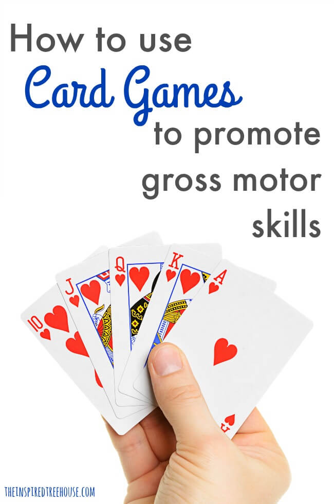 The Inspired Treehouse - These creative ways to use card games for kids are perfect for targeting movement and gross motor development.