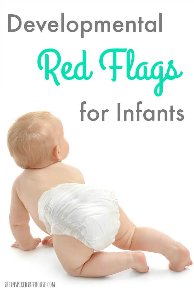 The Inspired Treehouse - Learn about some common developmental red flags for infants that we use to identify developmental delays and other problems.