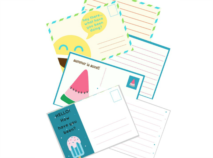 The Inspired Treehouse - If you're looking for fun handwriting printables for kids, this pack of 6 summery postcards is the perfect way to keep kids practicing writing over the long break!