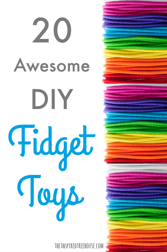Colorful rubber bands to be used as DIY fidget toys.