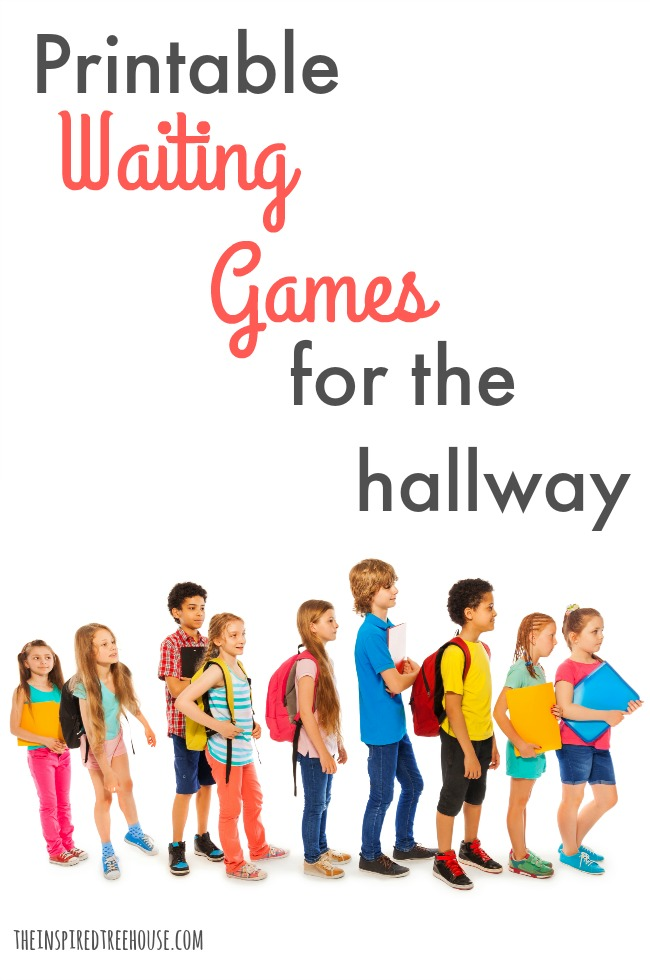 The Inspired Treehouse - Waiting time doesn't have to be wasted time! Try these 10 Printable Hallway Games and you'll use wait time to build motor and self-regulation skills!