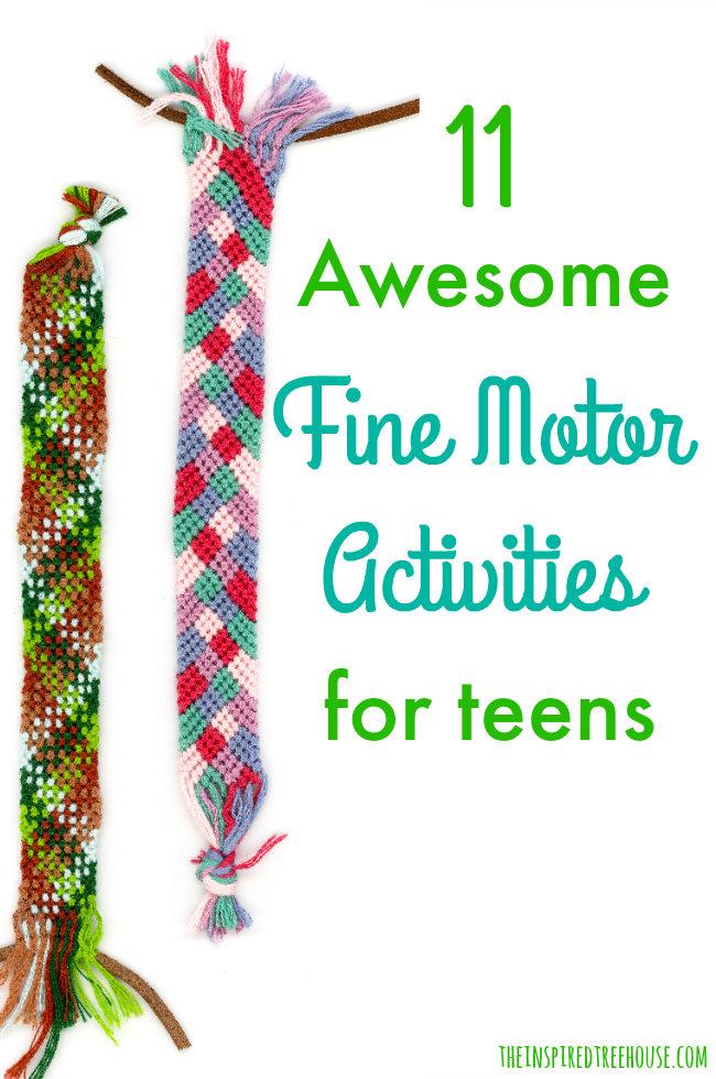 The Inspired Treehouse - These fun fine motor activities for teens are perfect for building strength and coordination!